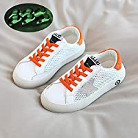 Children's Mesh Sneakers, Cool Breathable Hollow Mesh Fashion Shoes for Boys and Girls in Summer,Orange,32