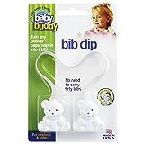 Baby Buddy ベビー バディ Bib Clip ホワイトベア マルチ クリップ(ダブル) 【アメリカ製】 White ホワイト