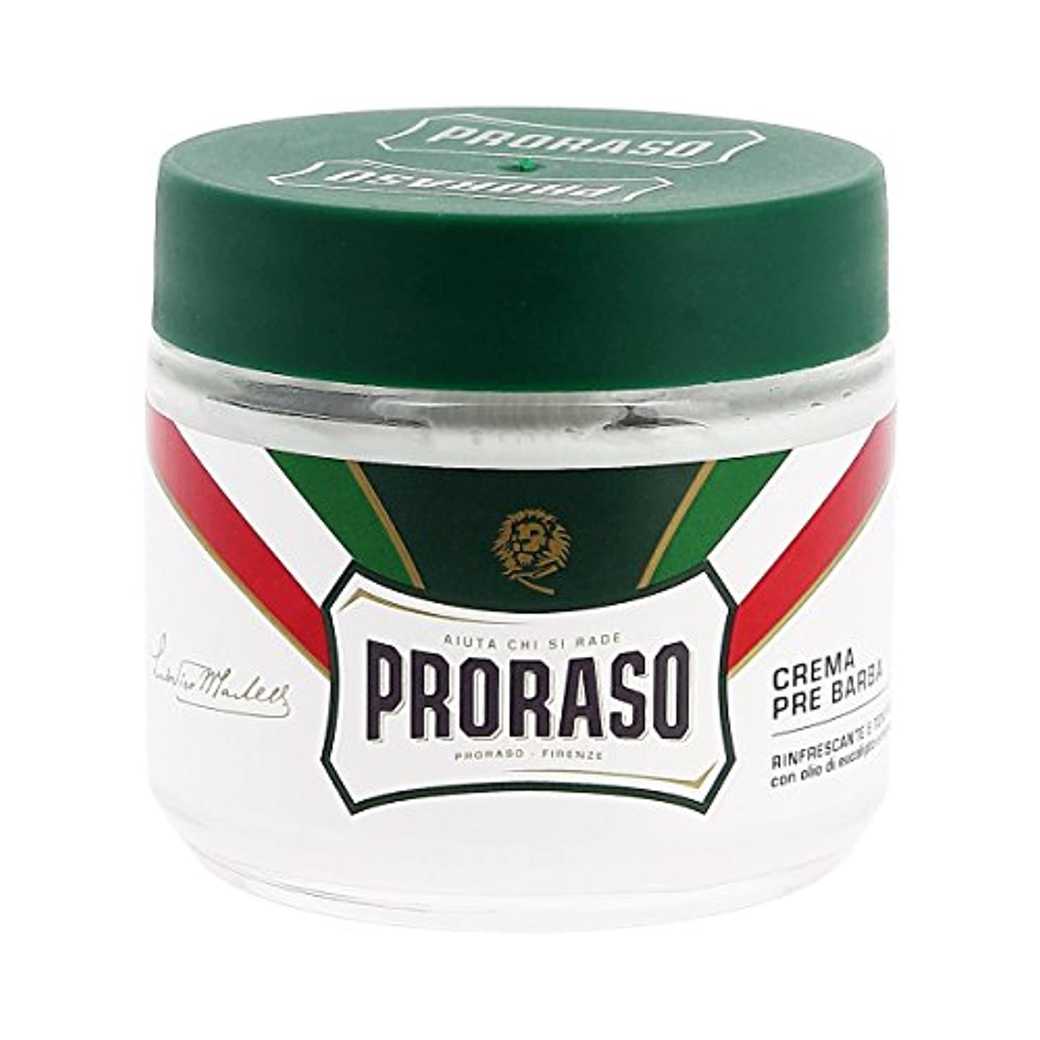 準備するに話す野心的Proraso イタリア プレシェーブクリーム ユーカリ 100ml[海外直送品] [並行輸入品]