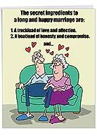 Marriage Secrets記念Funny Paperカード 1 Jumbo Anniversary Card & Enve. (J9780)