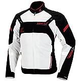 RSタイチ(アールエスタイチ)バイクジャケット ホワイト/レッド (XL) クロスオーバー メッシュジャケット RSJ305