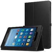 NEW-Fire HD 8 ケース - ATiC Amazon Fire HD 8 (第7世代、第8世代) 用全面保護型 薄型スタンドケース Fire HD 8タブレット(Newモデル)2018/2017用 BLACK