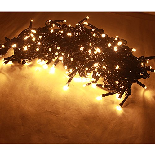 RoomClip商品情報 - 20M 200LED イルミネーションストリングライト 屋外 星空フェアリー LED ライト 高輝度 クリスマス/誕生日/結婚式イベントの装飾 防水 防滴型 複数連結可能  (ウォームホワイト)