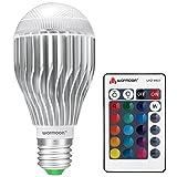 Warmoon LED電球 E26 調光調色可能リモコン付き 10W RGBW 16色変更メモリー機能 あり