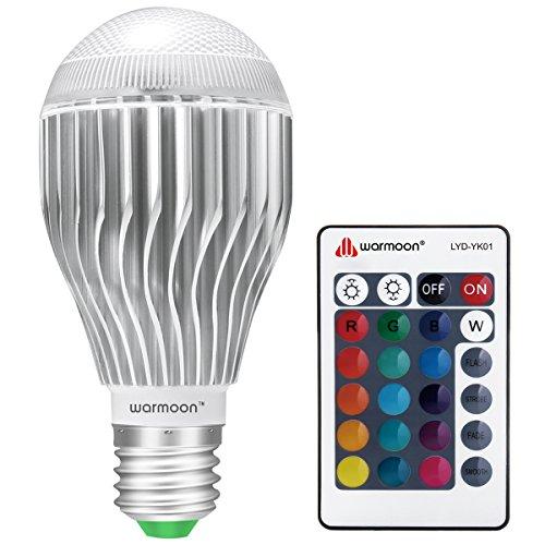 Warmoon LED電球 E26 調光調色可能リモコン付き 10W RGB...