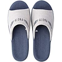 Cotton Slippers Spring and Summer New Japanese-Style Opening Leaves Home Floor Non-Slip Indoor Comfortable Men and Women Couples Basin Bottom Slippers