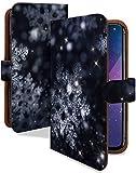 iPhone8 Plus ケース 手帳型 氷の結晶 冬 雪 クリスマス スマホケース アイフォン エイト アイフォーン アイフォン8 アイホン 8+ 手帳 カバー iphone8plus 8plusケース 8plusカバー 結晶 氷 雪の結晶 [氷の結晶/t0640d]