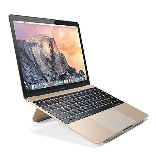 RCL5 ノートパソコン Macbook マックブック PC スタンド アルミニウム デスクワーク 折りたたみ コンパクト 冷却スタンド Gold ゴールド