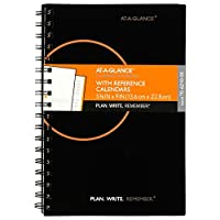"""Planning Notebook With Reference Calendar, Black, 6"""" x 9"""" (並行輸入品)"""