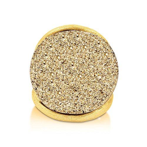 (ベリカル)BERRICLE 黄銅合金水晶 (クォーツ)リング リングのサイズ : 7