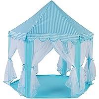 GLOGLOW キッズプレイキャッスル テント プリンスプレイハウス 折りたたみ式 ポータブル 屋内 屋外 ゲーム プレイハウス 女の子 男の子 ベージュ GLOGLOW1h8fkg7p4a-01