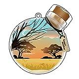 ハゴロモ アクリルメイクアップカバー #草原の黄昏