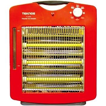 TEKNOS スチーム加湿機能付き 遠赤外線ヒーター 温度3段階調整 TS-900S(R)