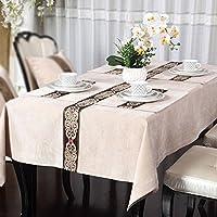テーブルクロス 現代的な豪華な中国スタイルのテーブルクロス、上品なダイニングテーブルのコーヒーテーブルのテレビキャビネットのテーブルクロス (Color : A, Size : 140x200cm)