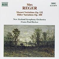 Max Reger: Mozart Variations and Fugues; Mozart Variations Op. 132 / Hiller Variations Op. 100 by REGER (1995-05-23)