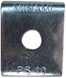 南電機 PSプレート W3/8用 PS-10 電気亜鉛メッキ仕上げ (50個/袋)