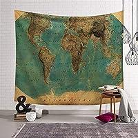 世界地図パターンのタペストリーの家の装飾壁掛けブランケット by TomgJumgTJ (Color : 1, サイズ : 150x100cm)