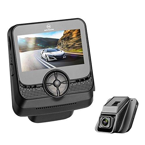 MUSON(ムソン) ドライブレコーダー 1080PフルHD G-sensor 常時録画 170度広角 緊急録画 動体検知 2.45インチ液晶モニター リチウム電池内蔵 日本語説明書付属 車載カメラ ドラレコ Drive Recorder MB2 -