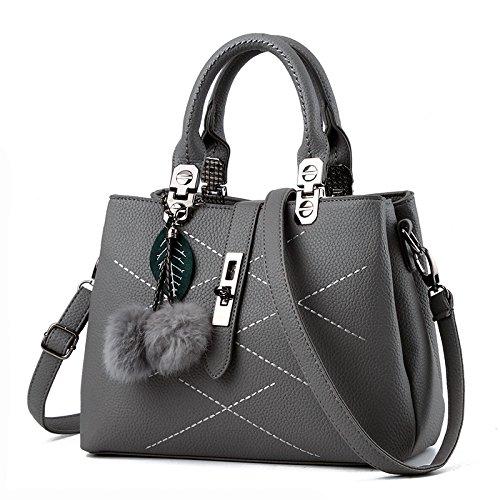 NICOLE&DORIS 女性のための女性のバッグのハンドバッグのハンドバッグ2017新しい波パケットメッセンジャーバッグレディース(Gray)