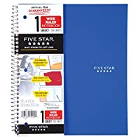 (Royal Blue) - Five Star Wirebound Notebook, 1-Subject, 100 Wide-Ruled Sheets, 27cm x 20cm Sheet Size, Blue (72023)