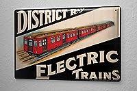 Tin Sign ブリキ看板 Art Deco electric railways