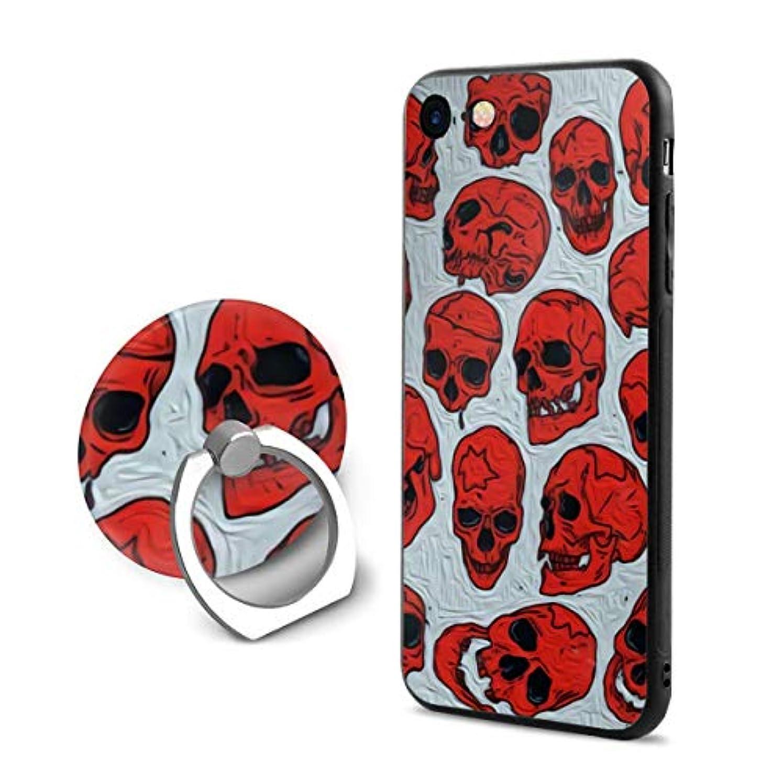 期間許可するどちらもスケルトン スカル Iphone6Plus ケース/Iphone6s Plus ケース Cases リング付き ソフト TPU 軽量 薄型 擦り傷防止 取り出し易い 携帯カバー 落下防止 柔らかい オシャレ 耐衝撃 ケース カバー