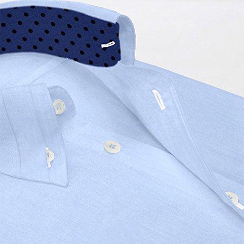 『ワイシャツ 軽井沢シャツ [A10KZB008]ボタンダウン 100番手双糸 マイター比翼 らくらくオーダー受注生産商品』の3枚目の画像