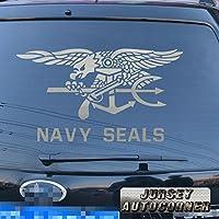 3s MOTORLINE US Navy Seals Special Warfare Insignia Special Warfare SEAL Tridentデカールステッカー車ビニールPickサイズカラーstyle2 24'' (61.0cm) ブラック 20180329s14