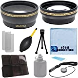 Pro Series 62mm 0.43X広角レンズ+ 2.2X望遠レンズとデラックスレンズアクセサリーキットfor Sony fdr-ax1デジタル4Kビデオカメラ..