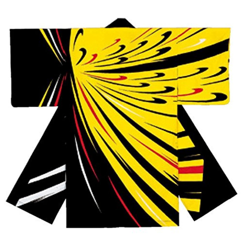 よさこい長袢天 黒 黄色 C73217