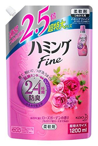 ハミング ファイン ローズガーデンの香り つめかえ用 超特大サイズ(1.2L*6コ入)
