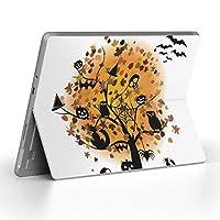 Surface go 専用スキンシール サーフェス go ノートブック ノートパソコン カバー ケース フィルム ステッカー アクセサリー 保護 オレンジ ハロウィン キャラクター 009162