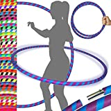 Ultra-Grip Pro Hula Hoops (100cm/39') UV Weighted Travel Hula Hoop/Hula Hoops for Exercise, Dance & Fitness! (680g) NO Instructions Needed - Same Day Dispatch!