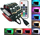 【リモコン付き】 LED テープライト 2m 防水 60灯 RGBカラー 全20色 全22発光パターン イルミネーション 調光 USB接続 カット可能 テレビ モニター バックライト PR-TAPELIGHT-RI
