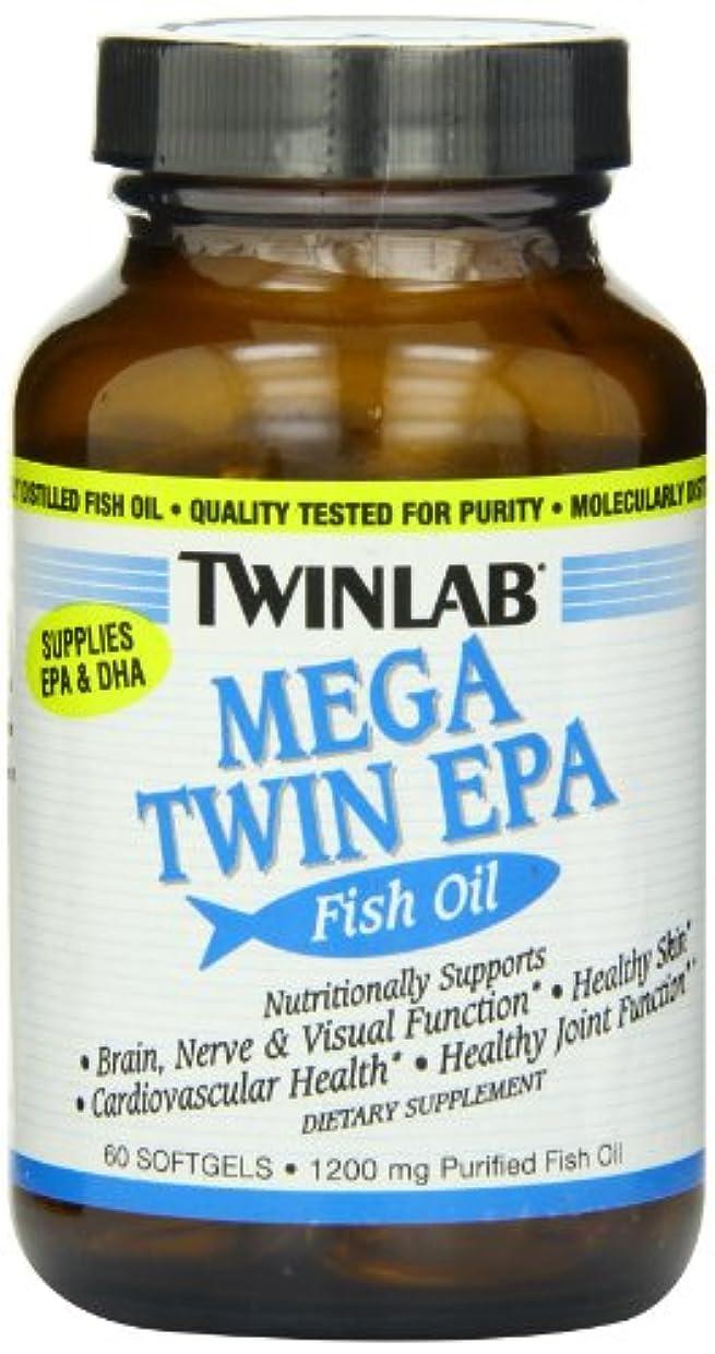 揮発性無条件必要TwinLab メガツインEPAフィッシュオイル 60ソフトジェル 海外直送品