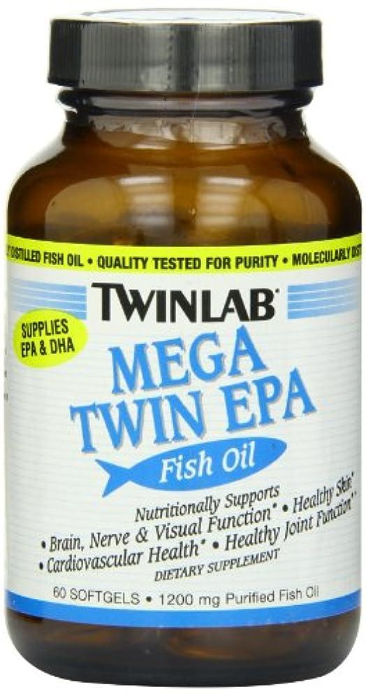 無許可訴える温室TwinLab メガツインEPAフィッシュオイル 60ソフトジェル 海外直送品