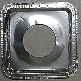 40pcs。Aluminum Foil Squareガスバーナー使い捨てよだれかけLiners Covers by westernb2K