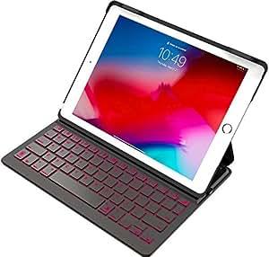 Inateck バックライト付きiPadキーボードカバー,iPad 第6世代(2018)/第5世代(2017)/iPad Air 1用 キーボードケース,ブラック