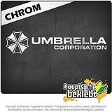 アンブレラCorperation Umbrella Corperation 7,9inch x 1,8inch 15色 - ネオン+クロム! ステッカービニールオートバイ