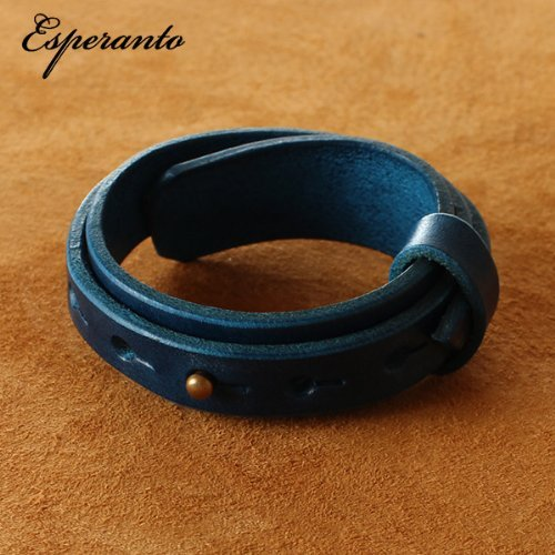 [해외](에스페란토) esperanto 3 연속 가죽 팔찌 3 배 권 붓 테로 가죽 남성 여성/(Esperanto) esperanto 3 leather bracelet triple volume Butteolo leather men`s ladies