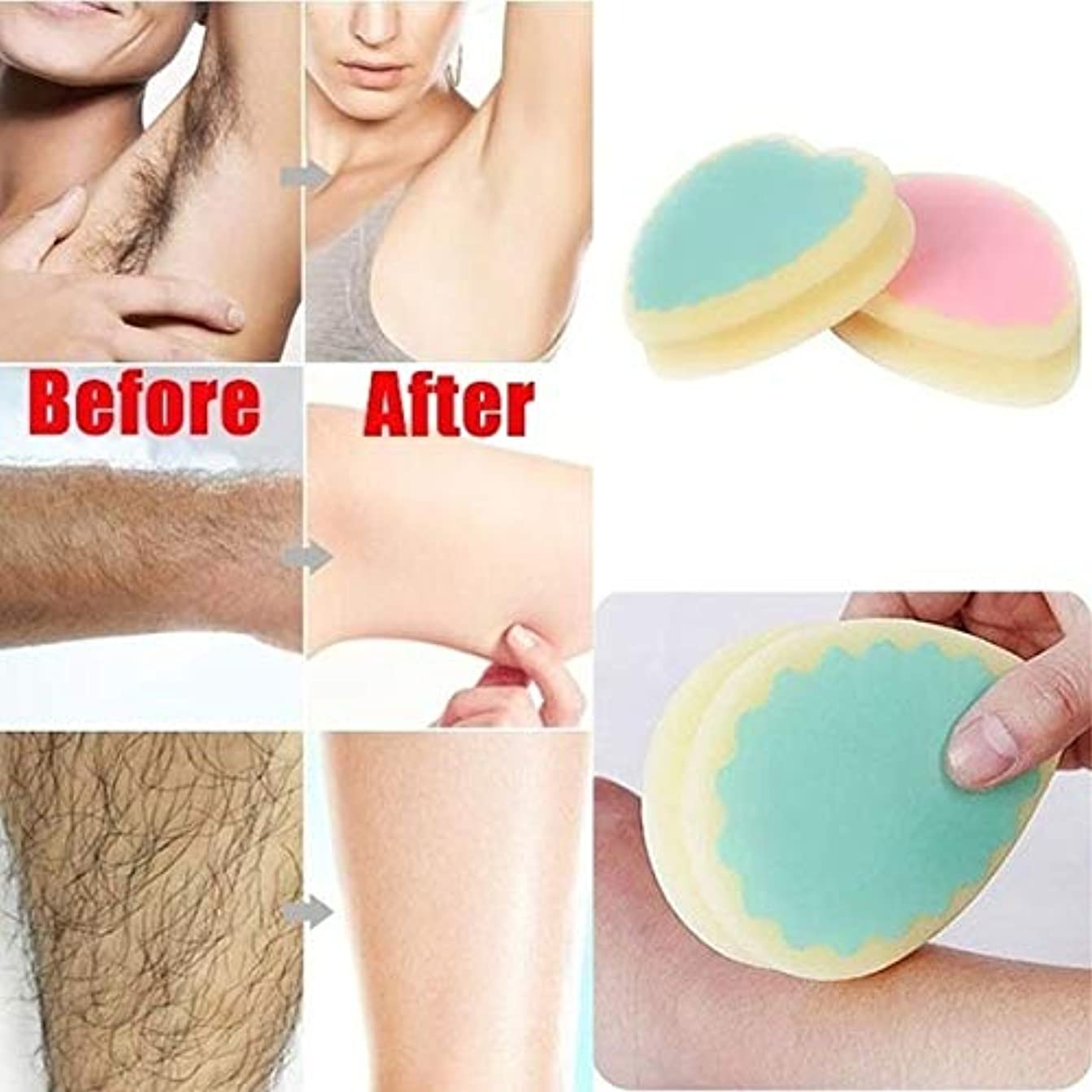 村連続した酔ってUnisex New Practical Magic Painless Hair Removal Depilation Sponge Pad