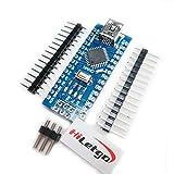 HiLetgo Mini USB Nano V3.0 ATmega328P CH340G 5V 16M マイクロコントローラーボード Arduinoと互換