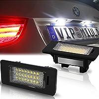 Win power 最新型 BMW LED ナンバー灯 E81 E82 E90 E91 E92 E93 E60 E61 E39 X1/E84/X5/E70/X6/E71 ライセンスランプ ホワイト キャンセラー内蔵 2個セット