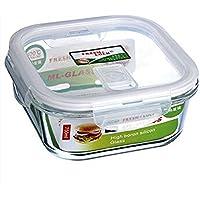 ガラスシーリングcrisper、食品保存ボックス新鮮な四角いガラスガラスcrisper