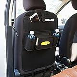 Konomise 車 カー シートバックポケット カーアクセサリー カーポケット 後部座席 収納 バック ポケット 車収納ホルダー 車載収納袋 多機能 大容量 車内小物 整理 整頓 取り付け簡単
