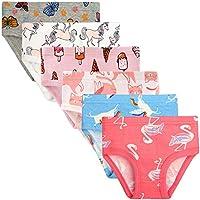 BOOPH Little Girls Underwear 6 Pack Soft Cotton Baby Toddler Panties Kids Briefs