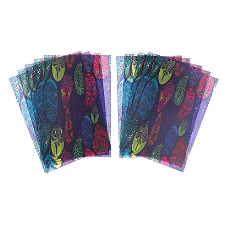 Prettyia ワックス紙 耐油紙 食品包装 キャラメルズ 羽毛 プリント 10枚