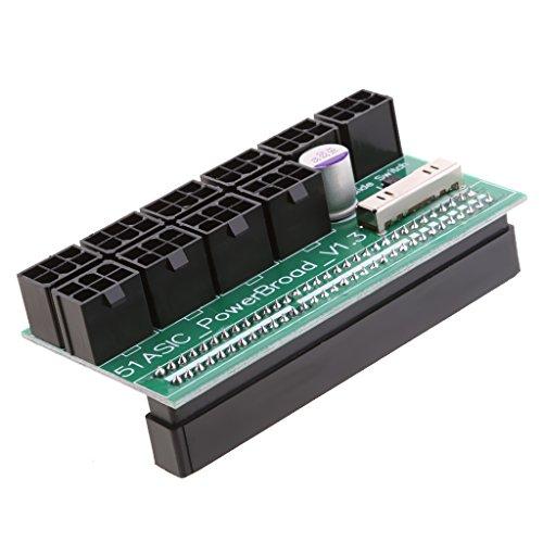 Baoblaze 6ピン 電源ブレークアウトボード HP 1200W/750W ビットコイン マイニング用 アダプタ 全2タイプ - 異なる側
