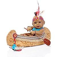 NPKDOLLリボーンベビードールインドスタイルブラックスキン11インチ 28センチメートルハードシリコーンビニール防水少年少女のおもちゃのボート 人形 Reborn Baby Doll A1JP