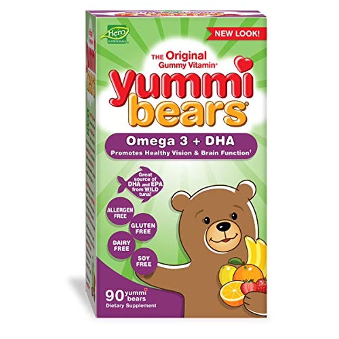 海外直送品 Yummi Bears (Hero Nutritional Products) Yummi Bears DHA, 90 CT